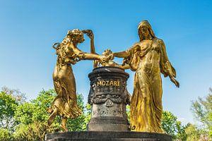 Mozart fountain, Dresden