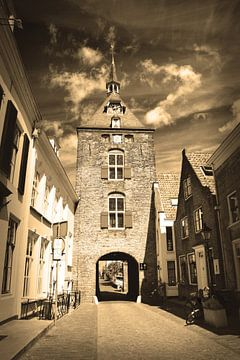 Vianen Utrecht Binnenstad Sepia van Hendrik-Jan Kornelis