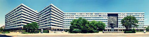 Chemnitz Karl-Marx-Monument Panorama