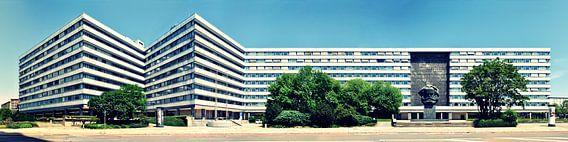 Chemnitz Karl-Marx-Monument Panorama van Panorama Streetline