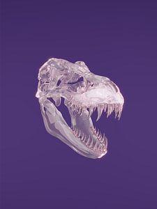 Dino-Schädel aus Glas von Tom IJmker