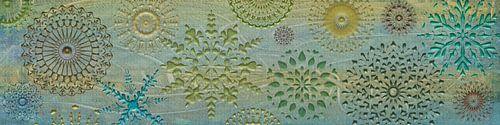 Collage mandala, panoramaformaat