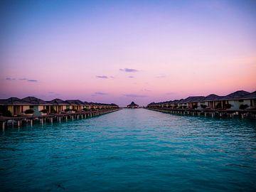 Zonsondergang Malediven van Reflection of Nature