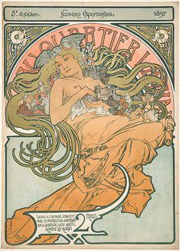 Alphonse Mucha, Im lateinischen Viertel - 1897 von Atelier Liesjes