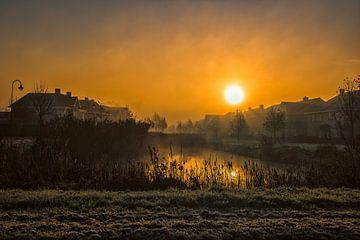 Zonsopkomst in de mist von Maik Jansen