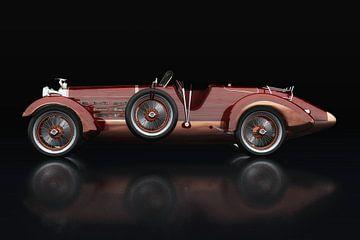 Hispano Suiza H6 Tulipwood Seitenansicht von Jan Keteleer