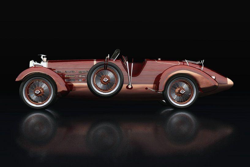 Hispano Suiza H6 Tulpenhout Zijaanzicht van Jan Keteleer