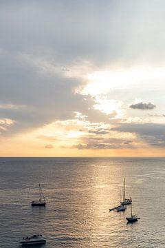 Zonsondergang / sunset Cala d'hort Ibiza van Danielle Bosschaart