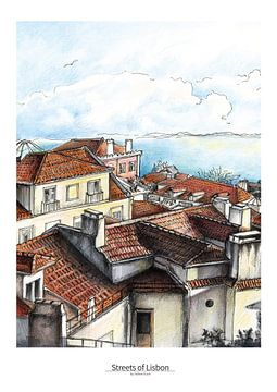 Lissabon Poster 3 - Ansicht von St. Jorge Castelo