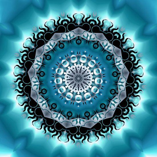 Mandala Blau van Violetta Honkisz