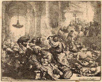 Christus vertreibt die Geldwechsler aus dem Tempel von