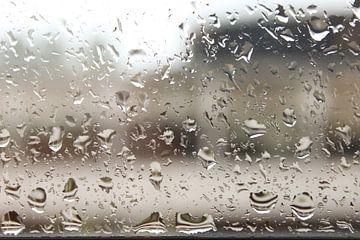 Regendruppels op het raam von André van Bel