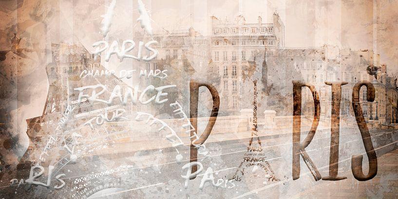 Modern Art PARIS Collage van Melanie Viola