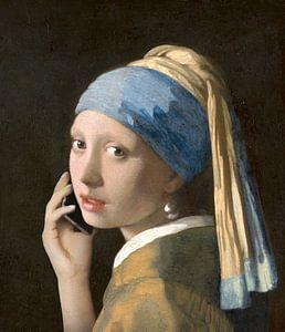 Mädchen mit dem Perlenohring im Gespräch mit Vermeer von