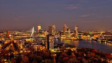 rotterdam cityscape sunset van