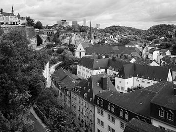 De stad Luxemburg in Luxemburg 2 van Jörg Hausmann