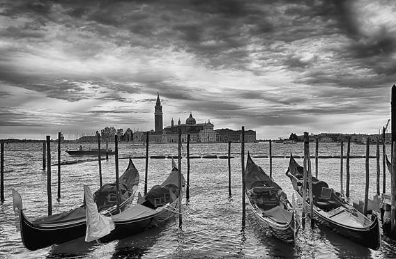 Venetië in zwart wit.