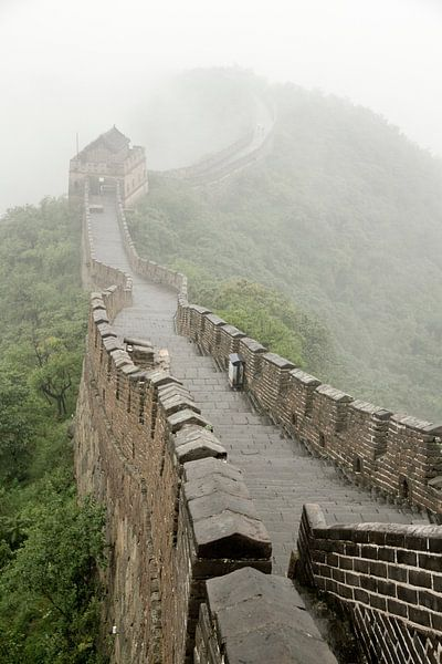 Chinese muur in de wolken van Cindy Mulder