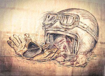Motorhelm van Freddy Hoevers