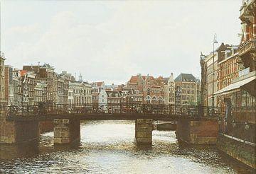 Schilderij: Amsterdam, Rokin von Igor Shterenberg