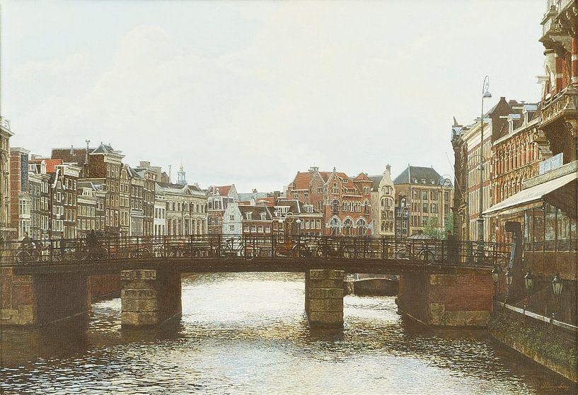 Schilderij: Amsterdam, Rokin van Igor Shterenberg