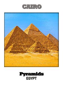Kairo & Pyramiden van Printed Artings