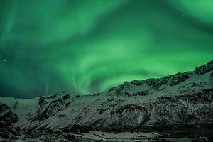 Polarlicht (Aurora Borealis) - Über den Bergen