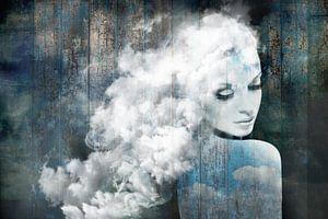 Wat lief om een wolk te zijn. Drijvend in de Blauwe! van Dreamy Faces