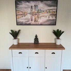 Kundenfoto: Skyline Leeuwarden met wolkenlucht von Harrie Muis