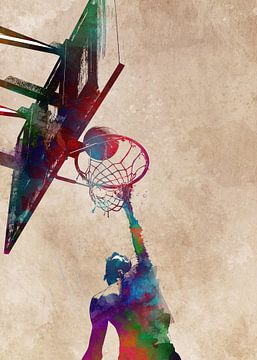 Basketbal 8 sportkunst #basketbal van JBJart Justyna Jaszke