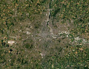 Satellietfoto van Londen, Verenigd Koninkrijk van Wigger Tims