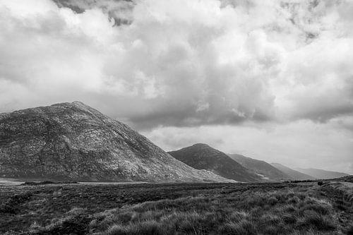 Iers landschap in Zwart Wit