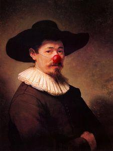 Rembrandt Herman Doomer met clowns neus