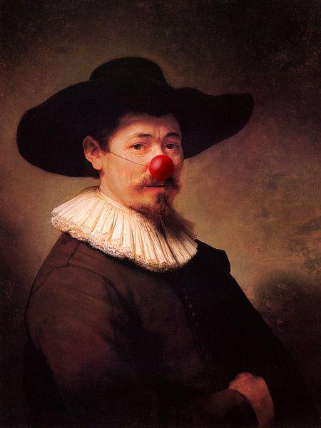 Rembrandt Herman Doomer met clowns neus van Maarten Knops