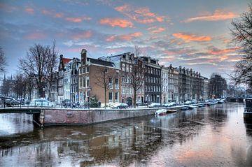 Winter Prinsengracht van Dennis van de Water