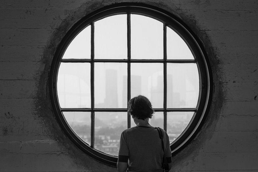 Wegdromen over het uitzicht op Rotterdam van MS Fotografie