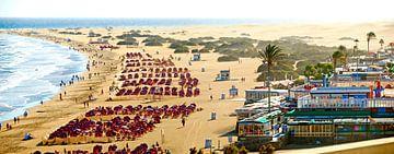 Playa del Ingles auf Gran Canaria von Leopold Brix