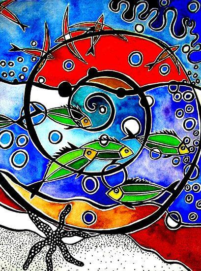 Spiraal van de zee