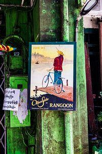 Oude print in Yangoon | Myanmar van Teuntje Fleur