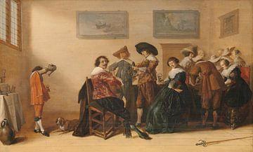 Vrolijk gezelschap in een kamer, Anthonie Palamedesz. sur