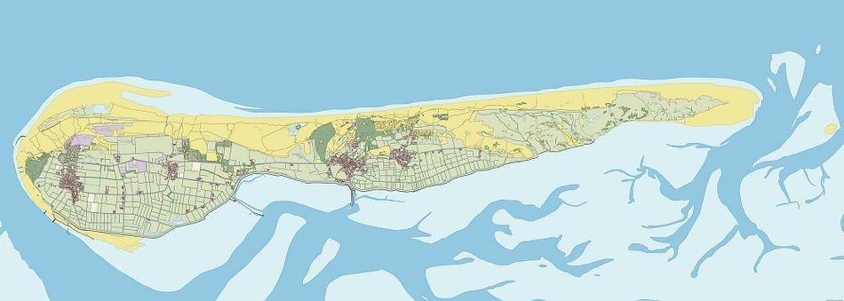 Kaart van Ameland van Rebel Ontwerp