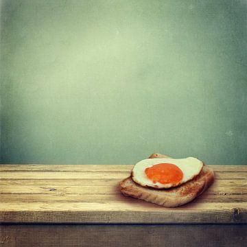 Spiegelei auf Toast van Heike Hultsch