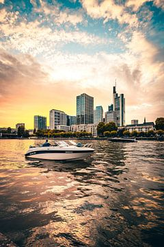 Frankfurt am Main met boot van Fotos by Jan Wehnert
