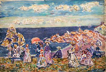 Maurice Prendergast-Oben am Strand
