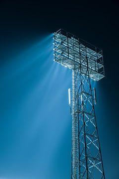 Lichtmast van De Kuip bij het Feyenoord Stadion van