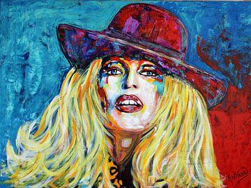 """Brigitte BARDOT """"Hut"""" von Kathleen Künstlerin von Kathleen Artist Fine Art"""
