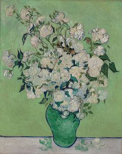 Stillleben mit Rosen in der Vase - Vincent van Gogh