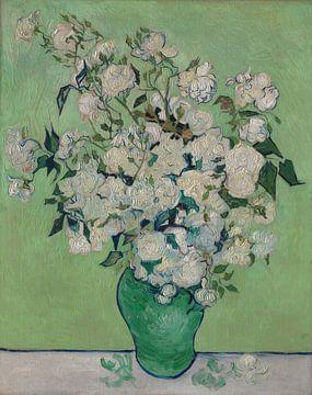 Stillleben mit Rosen in der Vase - Vincent van Gogh von Hollandse Meesters