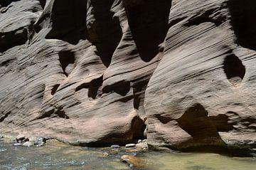 Der wunderschöne Canyon im Zion-Nationalpark, Utah. von Peter Out