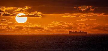 Sonnenuntergang Nordsee von Nico Boersma